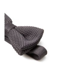 Forever 21 | Gray Textured Knit Bow Tie for Men | Lyst