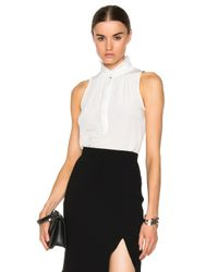 Altuzarra | White Pierre Crepe De Chine Top | Lyst