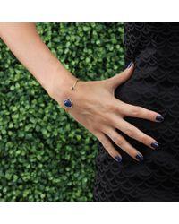 Jemma Wynne - Blue Pear Shape Lapis Bangle - Lyst