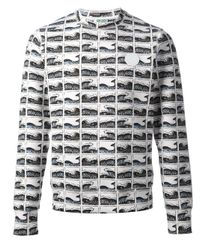 KENZO - White Graphic Print Sweater for Men - Lyst