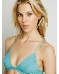 Free People - Blue Midnight Hour Triangle Bra - Lyst