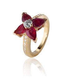 De Grace | Red Ruby Etoile Ring | Lyst