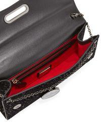 Christian Louboutin - Black Riviera Glitter Leopard-Print Evening Clutch Bag - Lyst