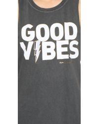 Spiritual Gangster - Gray Good Vibes Rocker Tank - Lyst