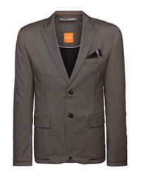 BOSS Orange | Gray Regular-fit Jacket In Fabric Blend With Viscose: 'baron' for Men | Lyst