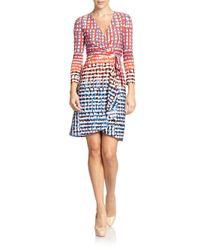 BCBGMAXAZRIA - Multicolor Adele Printed Wrap Dress - Lyst