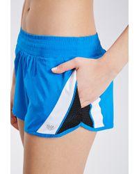 Forever 21   Blue Mesh Paneled Running Shorts   Lyst
