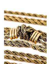 Lanvin | Metallic Braided Bracelet | Lyst
