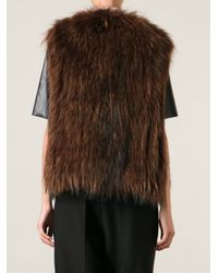 Meteo by Yves Salomon - Brown Marmot Fur Gilet - Lyst