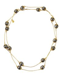 Gurhan - Metallic Long Lace Silver & Gold Necklace - Lyst