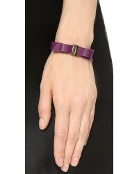 Ferragamo - Purple Bracciali Pell Bracelet - Vin - Lyst