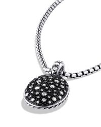 David Yurman - Metallic Midnight Mélange Oval Pendant With Diamonds - Lyst