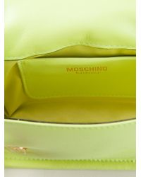 Moschino - Green Logo-Chain Calf-Leather Cross-Body Bag - Lyst
