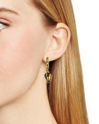 Diane von Furstenberg | Metallic Dew Drop Hoop Earrings | Lyst