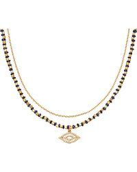 Astley Clarke | Blue Sapphire Evil Eye Biography Necklace | Lyst