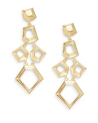 Lele Sadoughi | Metallic Pinball Arcade Faceted Chip Chandelier Drop Earrings/goldtone | Lyst