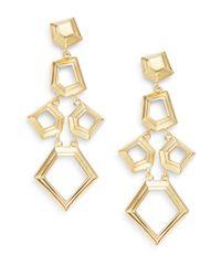 Lele Sadoughi | Metallic Pinball Arcade Faceted Chip Chandelier Drop Earrings/goldtone | Lyst