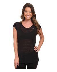 Nike - Black Dri-fit™ Cool Breeze Short Sleeve Top - Lyst