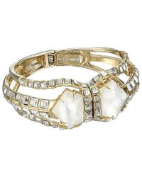 Alexis Bittar - Metallic Crystal Mosaic Hinged Bracelet With Mother Of Pearl Doublet - Lyst