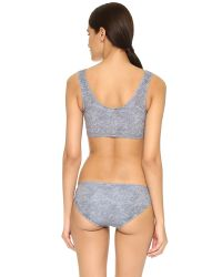 Beth Richards - Gray Knot Top Bikini Top - Lyst