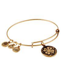 ALEX AND ANI | Metallic Four Leaf Clover Ii | Lyst