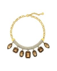Vince Camuto | Metallic Pave Stone Cluster Frontal Necklace | Lyst