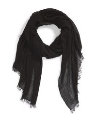 Rag & Bone - Black 'buckley' Scarf - Lyst