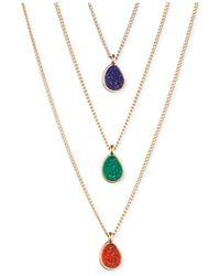 RACHEL Rachel Roy | Multicolor Gold-Tone Drusy Necklace Set | Lyst