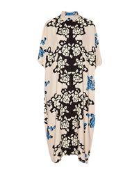 Carolina Herrera | Black Bordered Floral Print Shirt Dress | Lyst