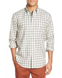Pendleton - Gray 'sir ' Wool Check Woven Shirt for Men - Lyst