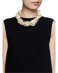 Erickson Beamon | White Lady And The Tramp' Mix Twist Glass Pearl Necklace | Lyst