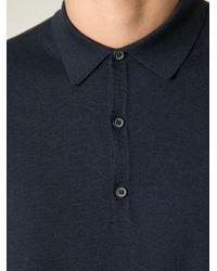 Lanvin - Blue Polo Sweater for Men - Lyst