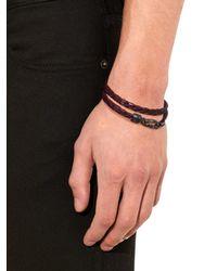 Tod's - Purple Woven Leather Bracelet for Men - Lyst