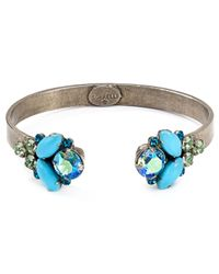 Sorrelli | Blue Encrusted Open Bangle | Lyst