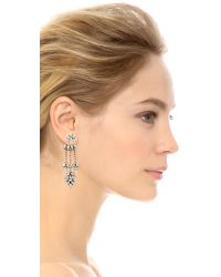 DANNIJO | Metallic Vika Earrings - Clear/silver Ox | Lyst