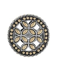 John Hardy - Metallic Kawung 18k Gold & Sterling Silver Coin Ring - Lyst