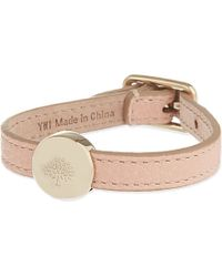 Mulberry | Pink Tree Bead Leather Bracelet - For Women | Lyst