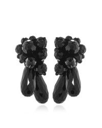 Simone Rocha - Black Glass Beaded Earrings - Lyst