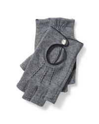 Ralph Lauren | Gray Fingerless Wool-blend Gloves | Lyst