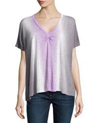 Young Fabulous & Broke - Purple Tie-dye V-neck Top - Lyst