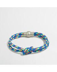 J.Crew | Blue Factory Knot Cord Bracelet for Men | Lyst