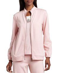 Joan Vass | Natural Interlock Zip Jacket | Lyst