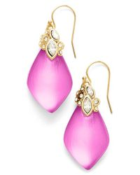 Alexis Bittar | 'Lucite' Drop Earrings - Hot Pink | Lyst