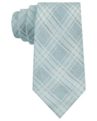 Calvin Klein - Blue Chalk Plaid Slim Tie for Men - Lyst