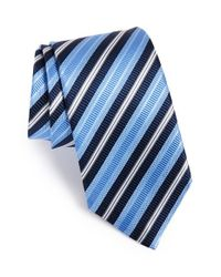JZ Richards | Blue Stripe Woven Silk Tie for Men | Lyst