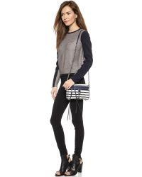 Rebecca Minkoff - White Mini Mac Cross Body Bag - Navy Stripe - Lyst