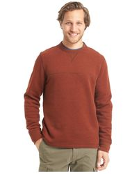 G.H. Bass & Co. | Brown Faux-suede Long-sleeve Fleece Crew Shirt for Men | Lyst