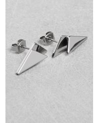 & Other Stories - Metallic Geometric Earrings - Lyst