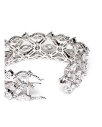 CZ by Kenneth Jay Lane | Metallic Mixed Cut Cubic Zirconia Bracelet | Lyst