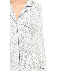 Eberjey - Blue Sleep Chic Printed Stretch-Jersey Pajama Set - Lyst